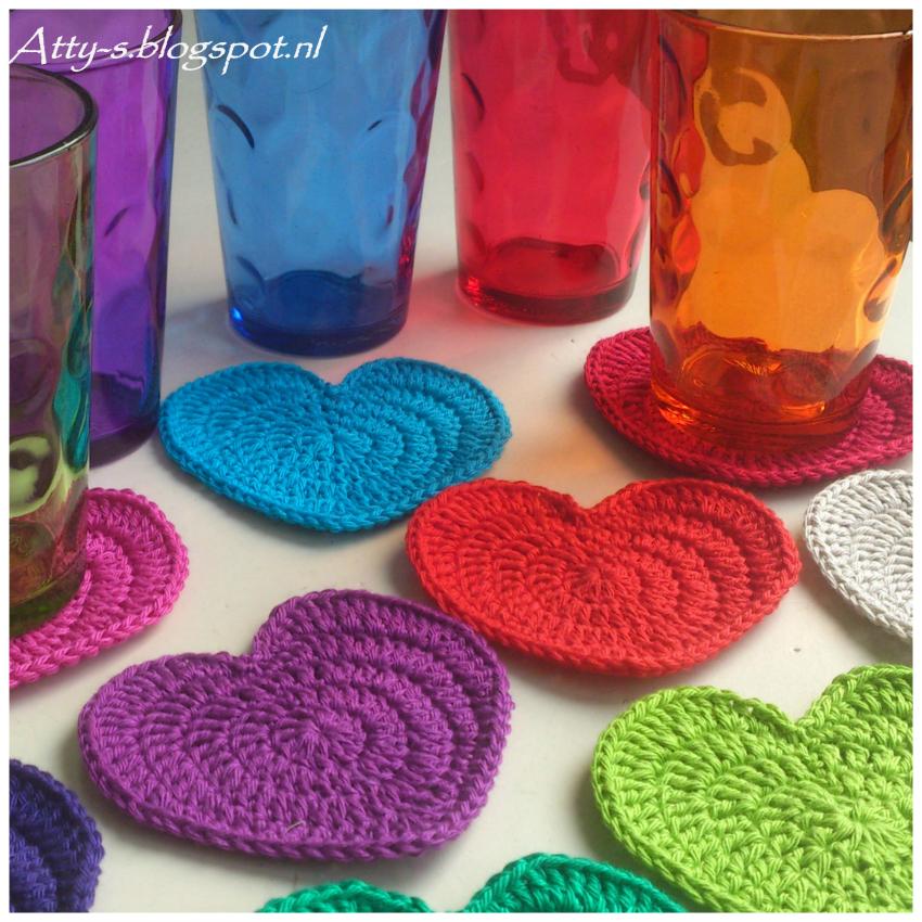 Wonderful Diy Crochet Love Heart Coaster Crochet Coasters And
