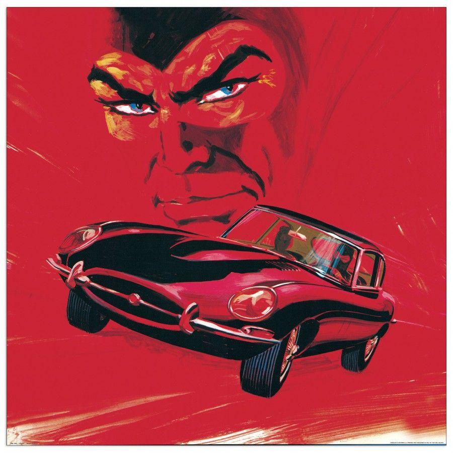 ZANIBONI - Jaguar 80x80 cm #artprints #interior #design #art #print #cartoon  Scopri Descrizione e Prezzo http://www.artopweb.com/categorie/cartoni/EC21968