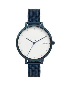 ae0ee1055fb Skagen Women s Women s Hagen Blue Steel-Mesh Watch - Blue - One Size