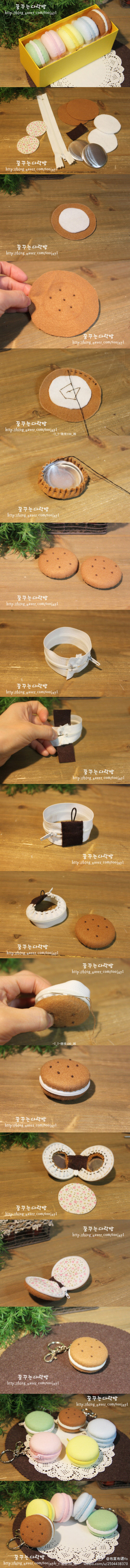 Macaron coin purse tutorial. Am so eager to try this!!