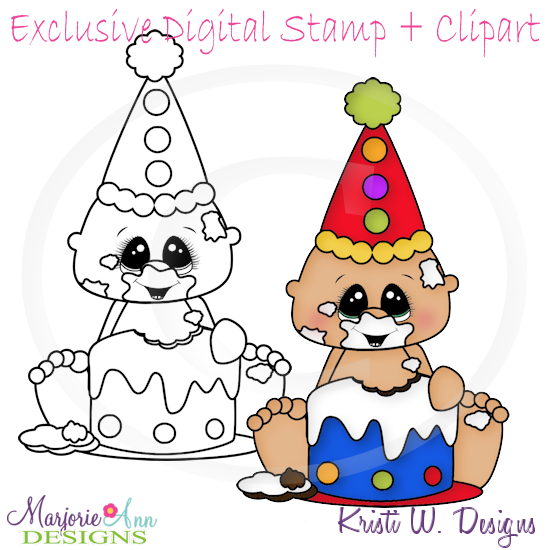 Cake Smash Birthday Boy Stamps Come In JPG PNG Format Also Included Is The