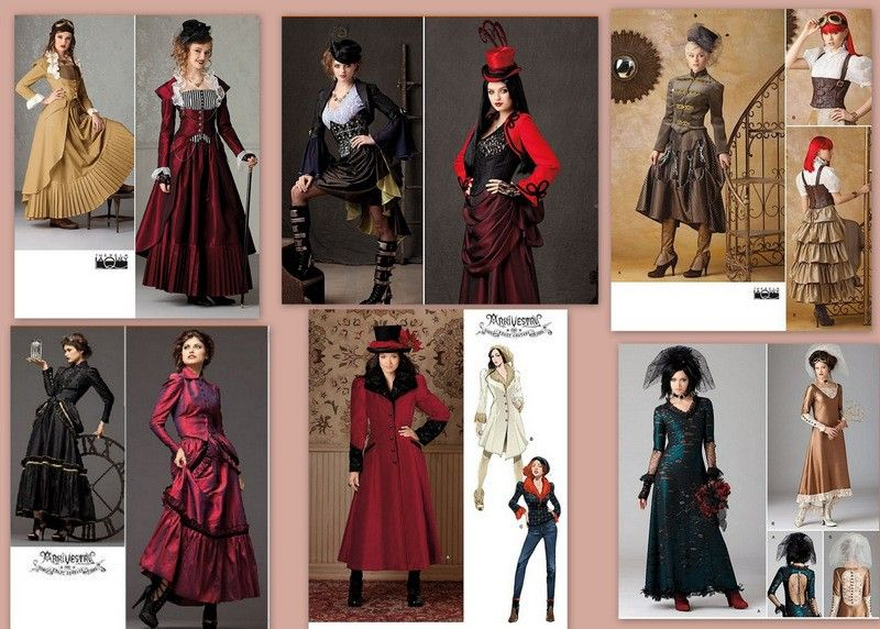 Steampunk Victorian Costume Simplicity Sewing Pattern Misses With
