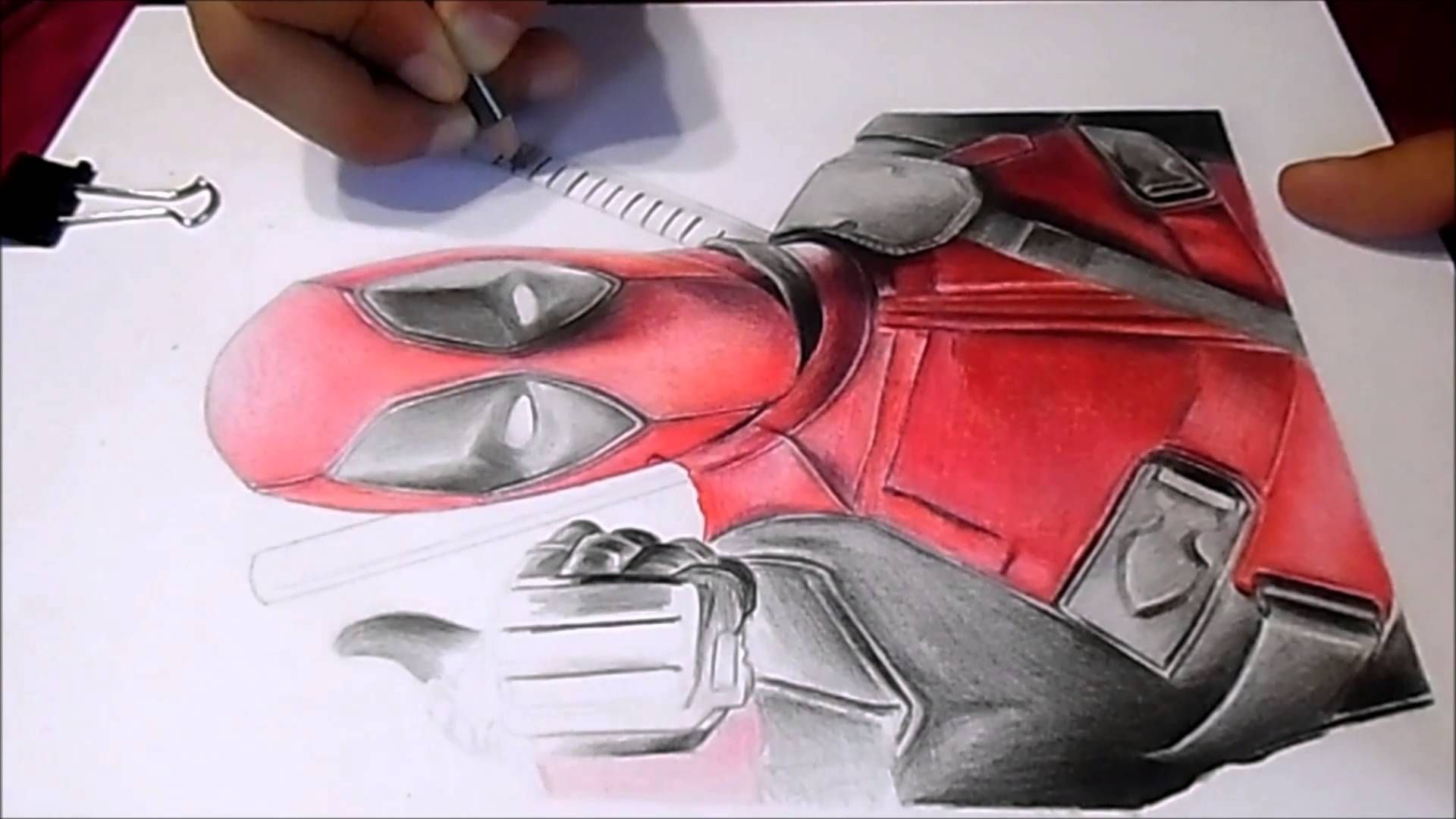 Dibujo A Color: DeadPool 2016 Ryan Reynolds Dibujo Muy