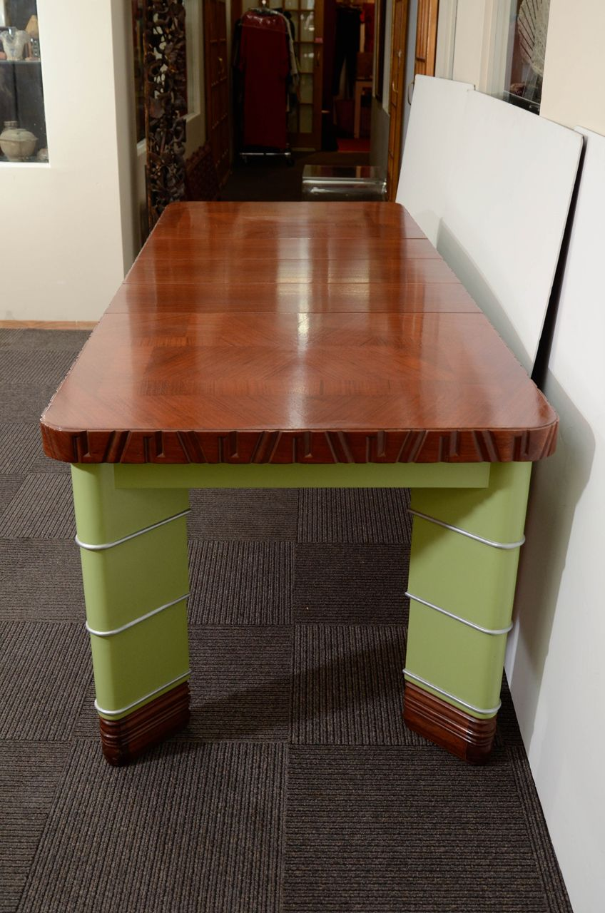 Art deco kem weber dining table from weber group dining suite from a