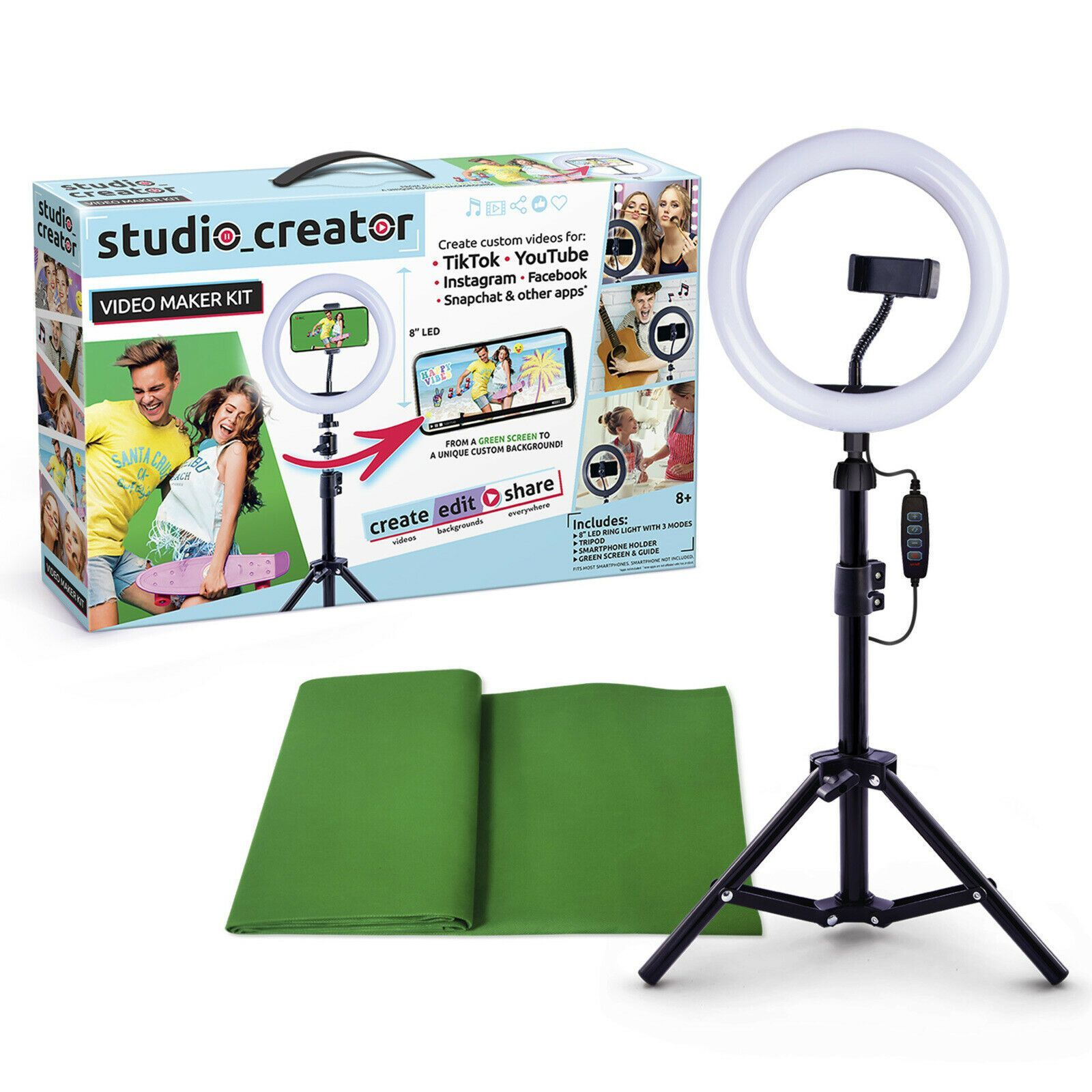 Studio Creator Video Maker Green Screen Kit Create Your Very Own Social Video Greenscreen Video Maker Instagram And Snapchat