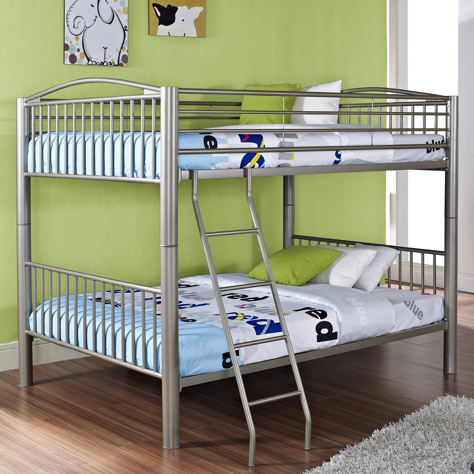 Powell Full Over Full Bunk Bed Black In 2019 Products