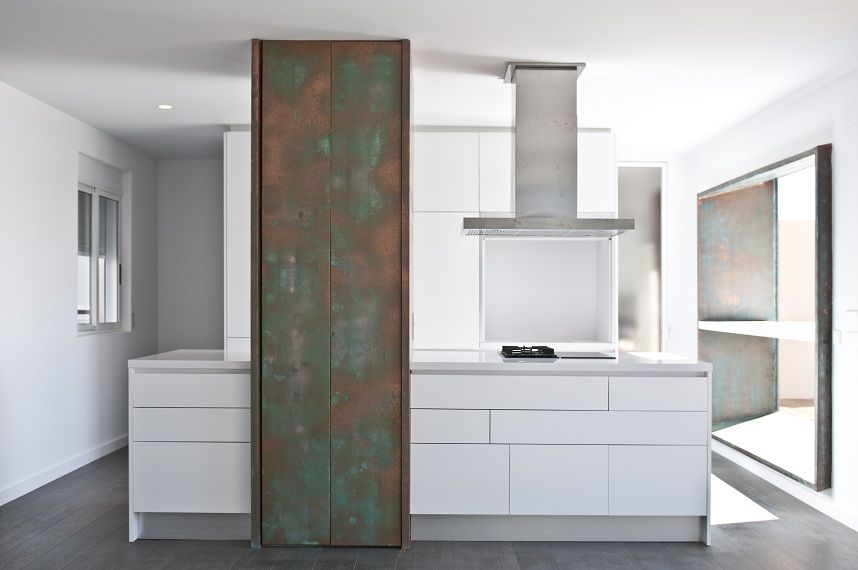 Cocina de estilo minimalista for Salon comedor minimalista