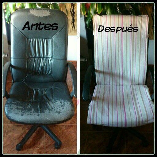 Como forrar una silla de escritorio silla azul verde rosa o morada elevable giratoria y con - Funda silla escritorio ...