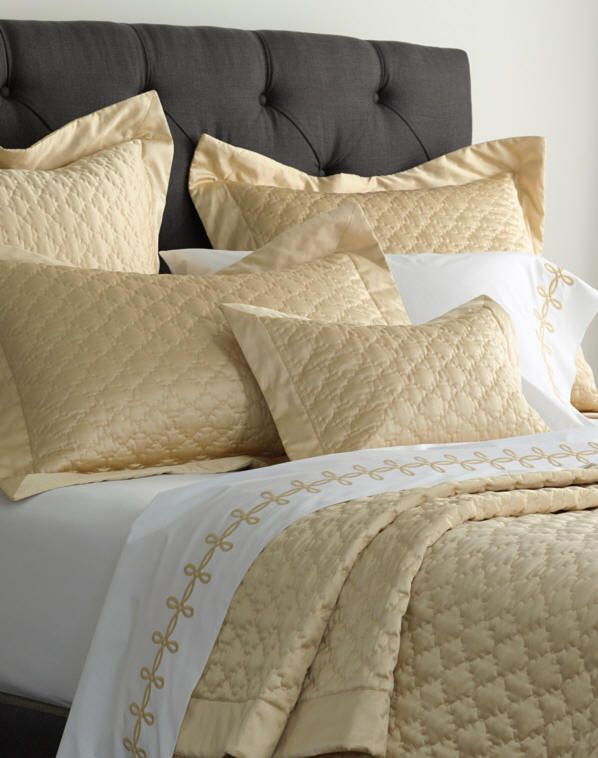 Charming Matouk Pearl Matelasse Luxury Bed Linens