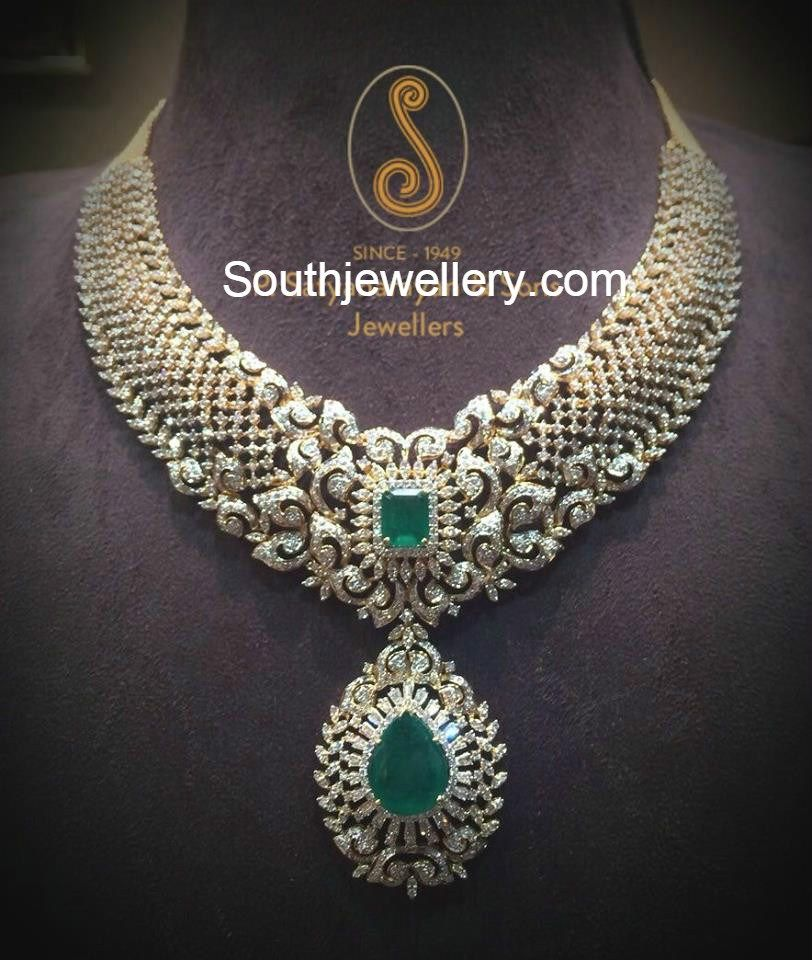 Beautiful Diamond Necklace | Indian Jewellery | Pinterest ...