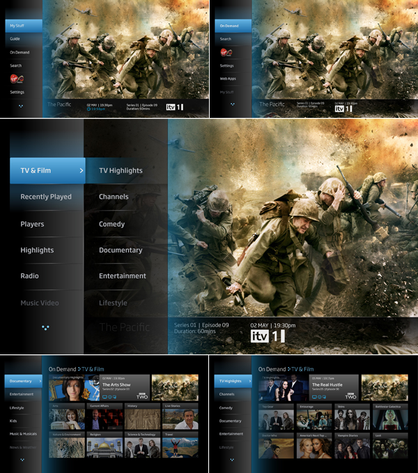 Youview User Interface By Alex Townsend Via Behance User