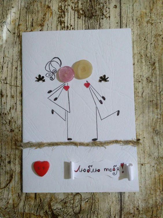 love card buttons  handmade birthday cards wedding