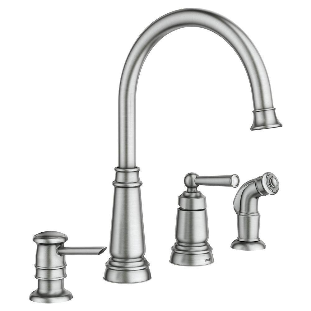 Moen Edison One Handle High Arc Kitchen Faucet 100 Lowes
