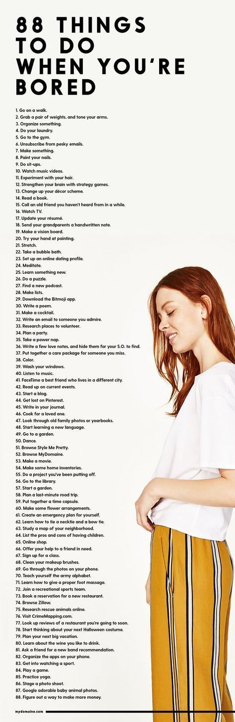 97 Things to Do When You're Bored