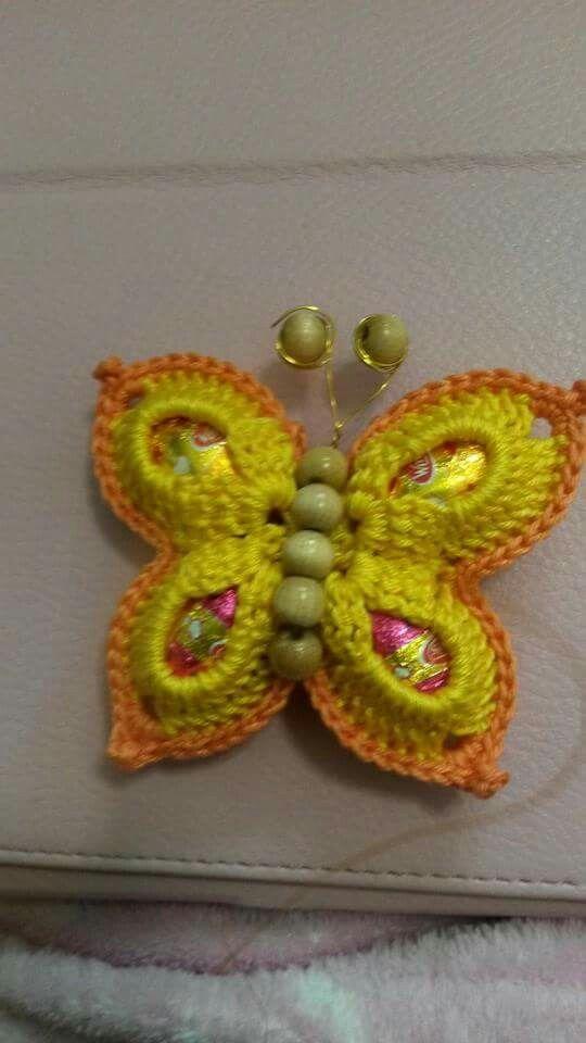 Farfalla Bomboniere Uncinetto Crochet Crochet Earrings E Butterfly