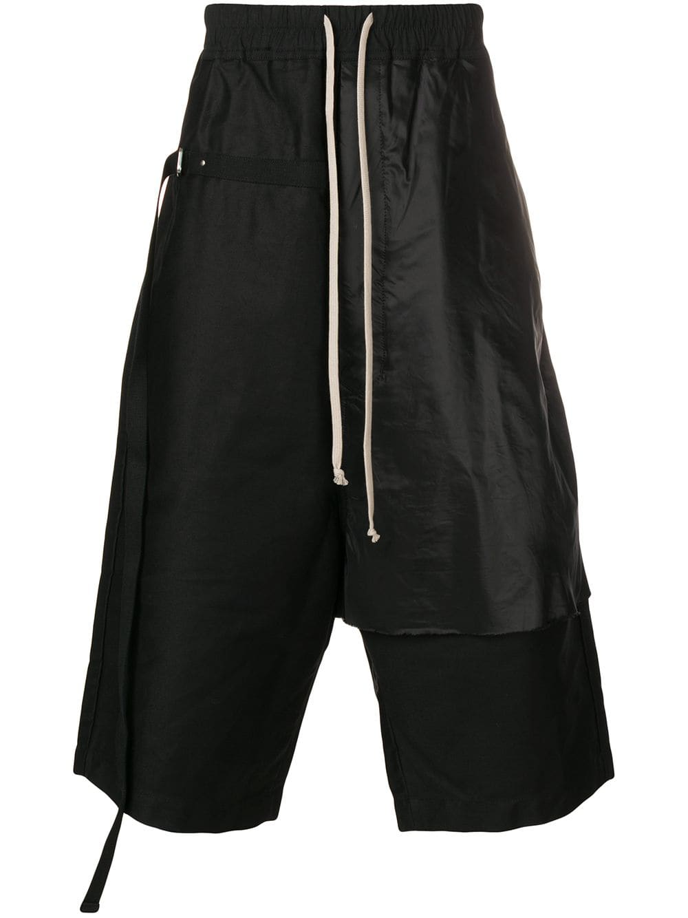 d698655cfc Rick Owens DRKSHDW dropped crotch long shorts - Black in 2019 ...
