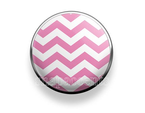 Pick your favorite color | Snap Jewelry Chevron Accent Interchangeable Button - Pink