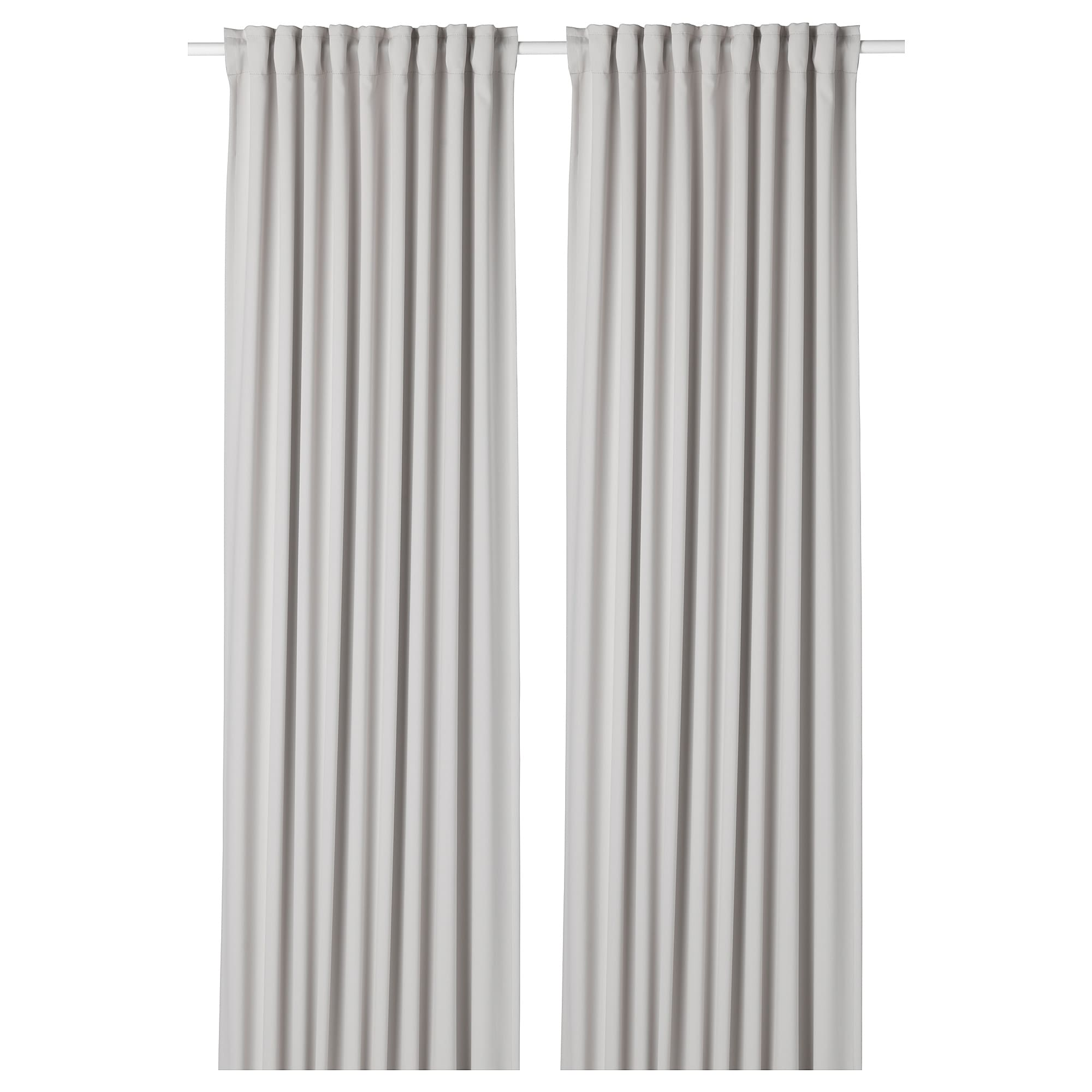 Ikea Majgull Light Gray Room Darkening Curtains 1 Pair In