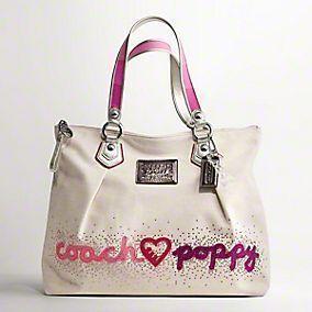authentic coach poppy purse coach 16319 poppy hearts glam tote bag rh pinterest com