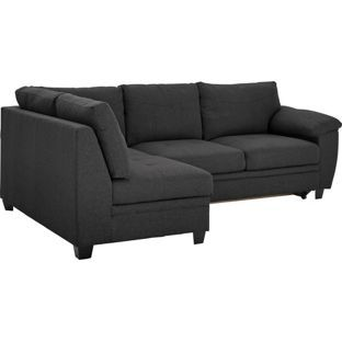 Buy Argos Home Fernando Left Corner Fabric Sofa Bed Charcoal Sofa Beds Fabric Sofa Bed Corner Sofa Bed Charcoal Sofa