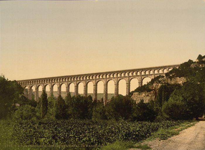 1890-1900 - Aqueduc de Roquefavour. Canal de Marseille
