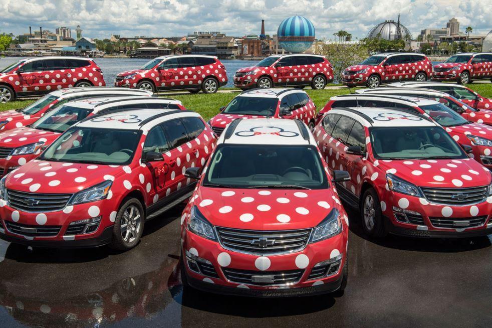 Minnie Mouse cars at Walt Disney World