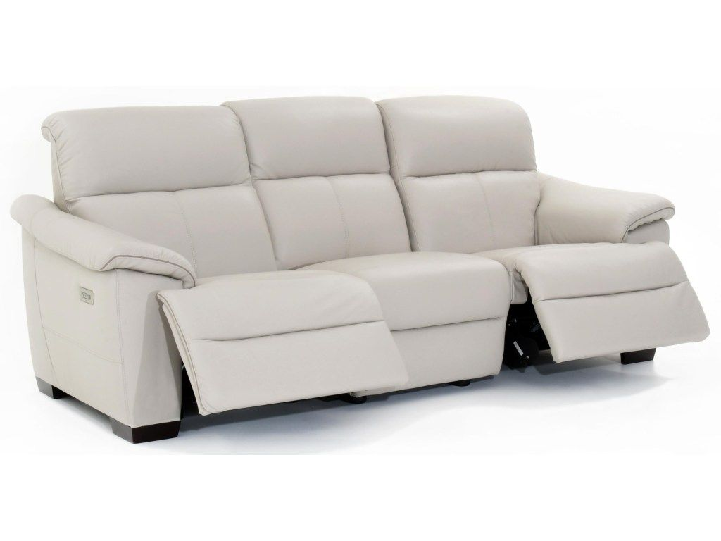 Potenza Contemporary Wall Hugger Power Reclining Sofa With Power