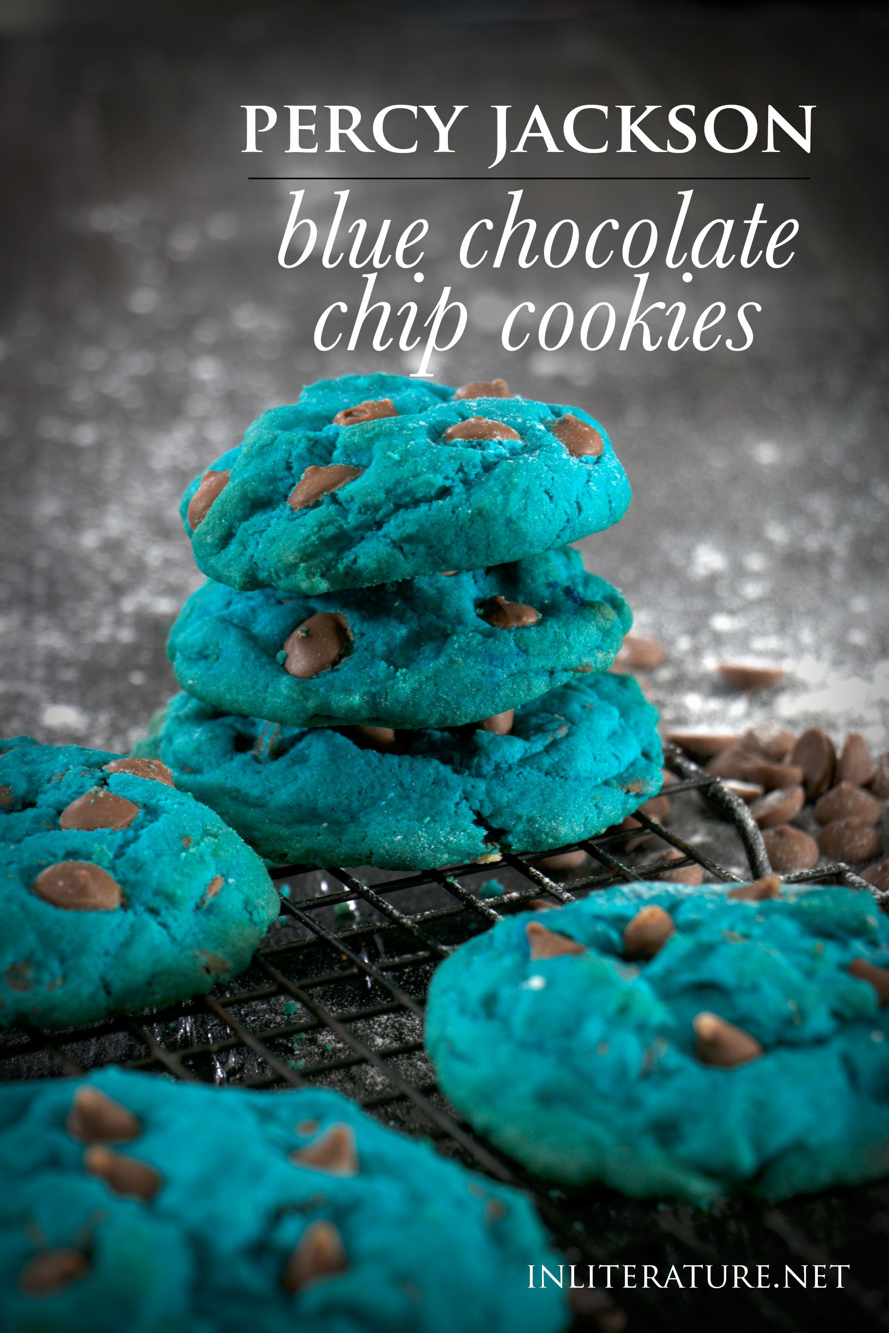 Blue chocolate chip cookies   Percy Jackson