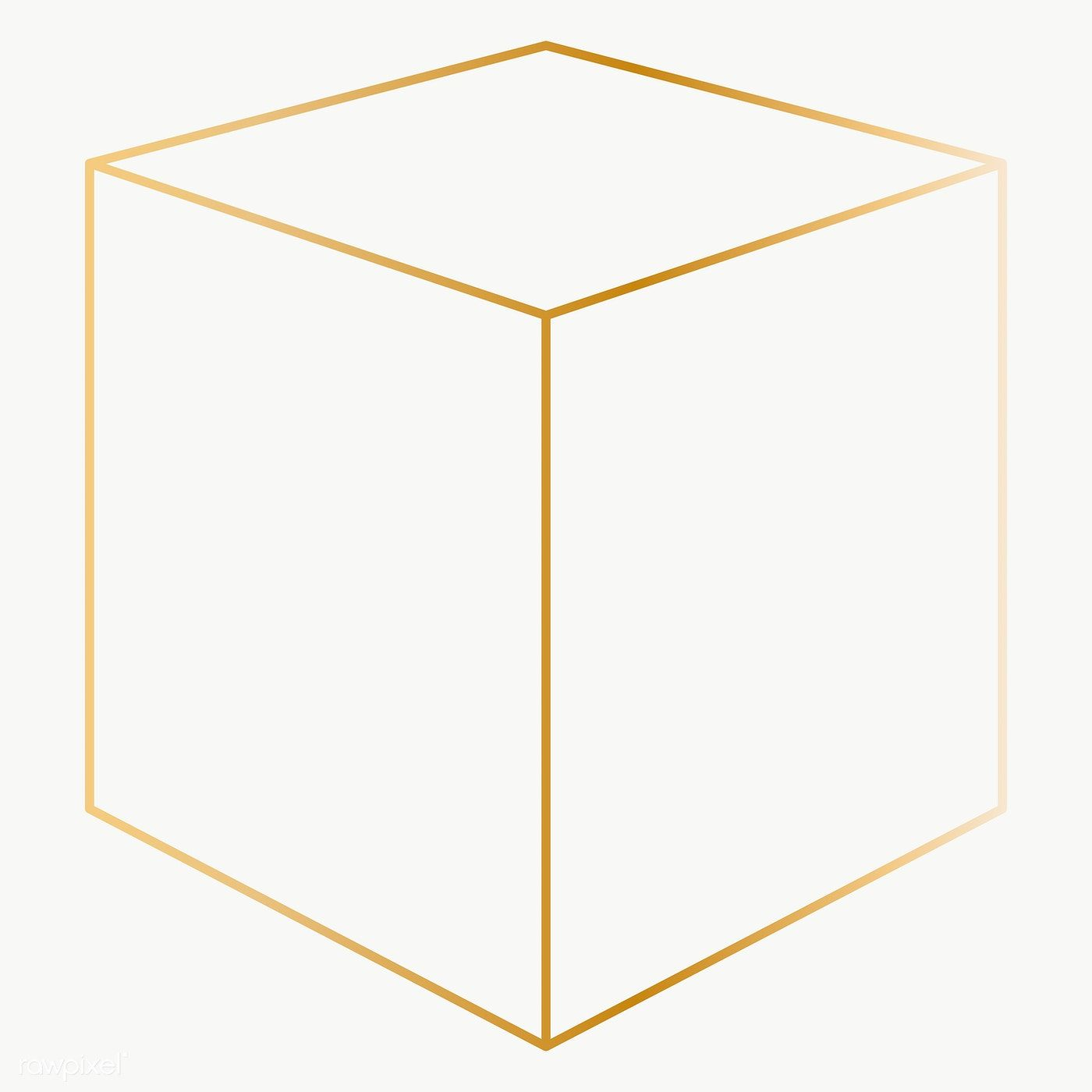 Minimal Gold Cube Shape Transparent Png Free Image By Rawpixel Com Katie Vector Background Pattern Web Design Resources Free Frames
