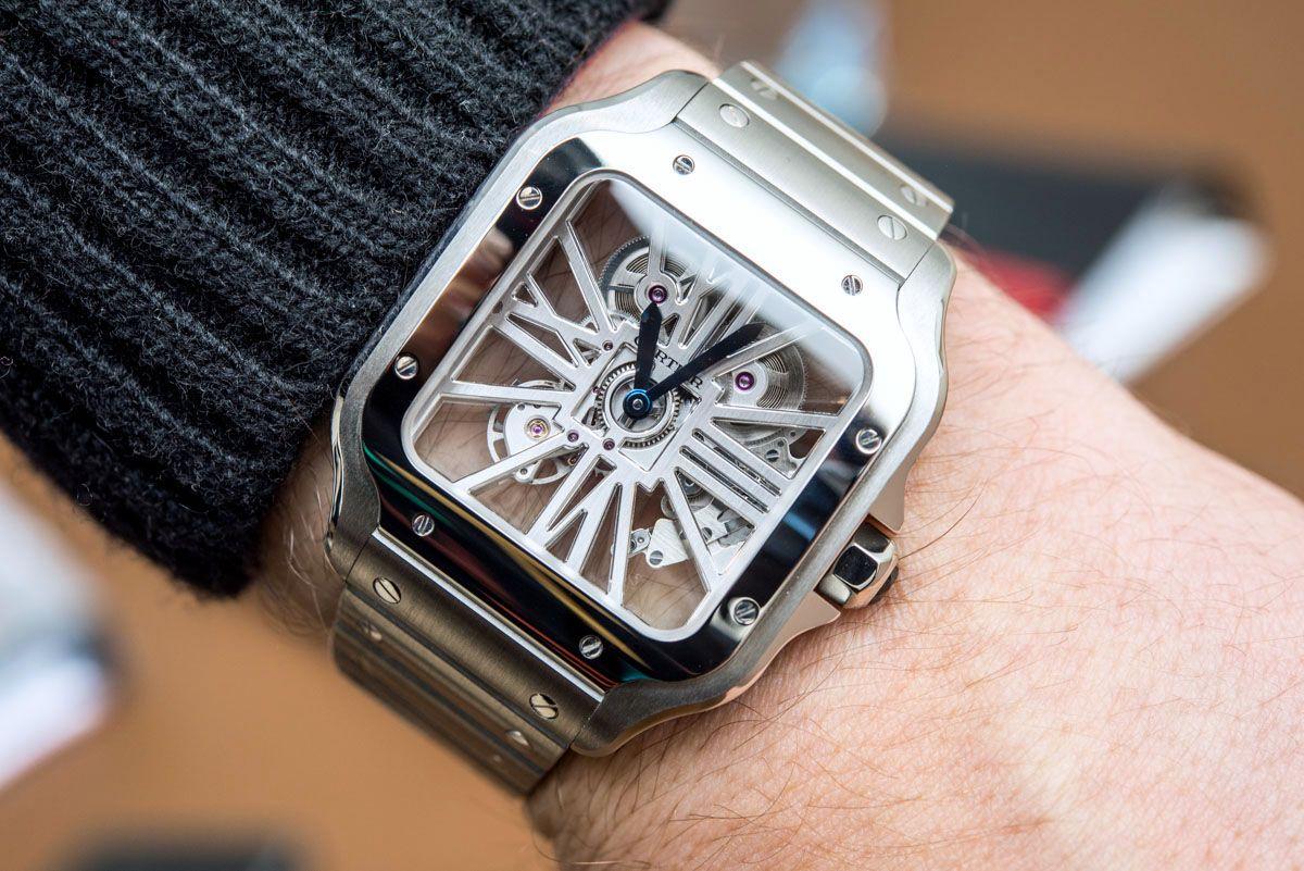 d3e241c5c Cartier Santos De Cartier Skeleton Watch In Steel For 2018 Hands-On #cartier  #