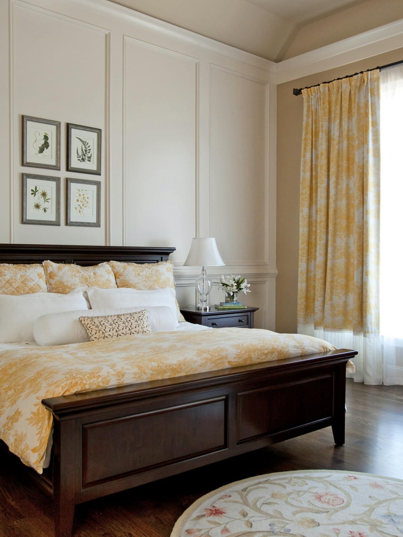 15 Cheery Yellow Bedrooms | Pinterest | Traditional bedroom, High ...