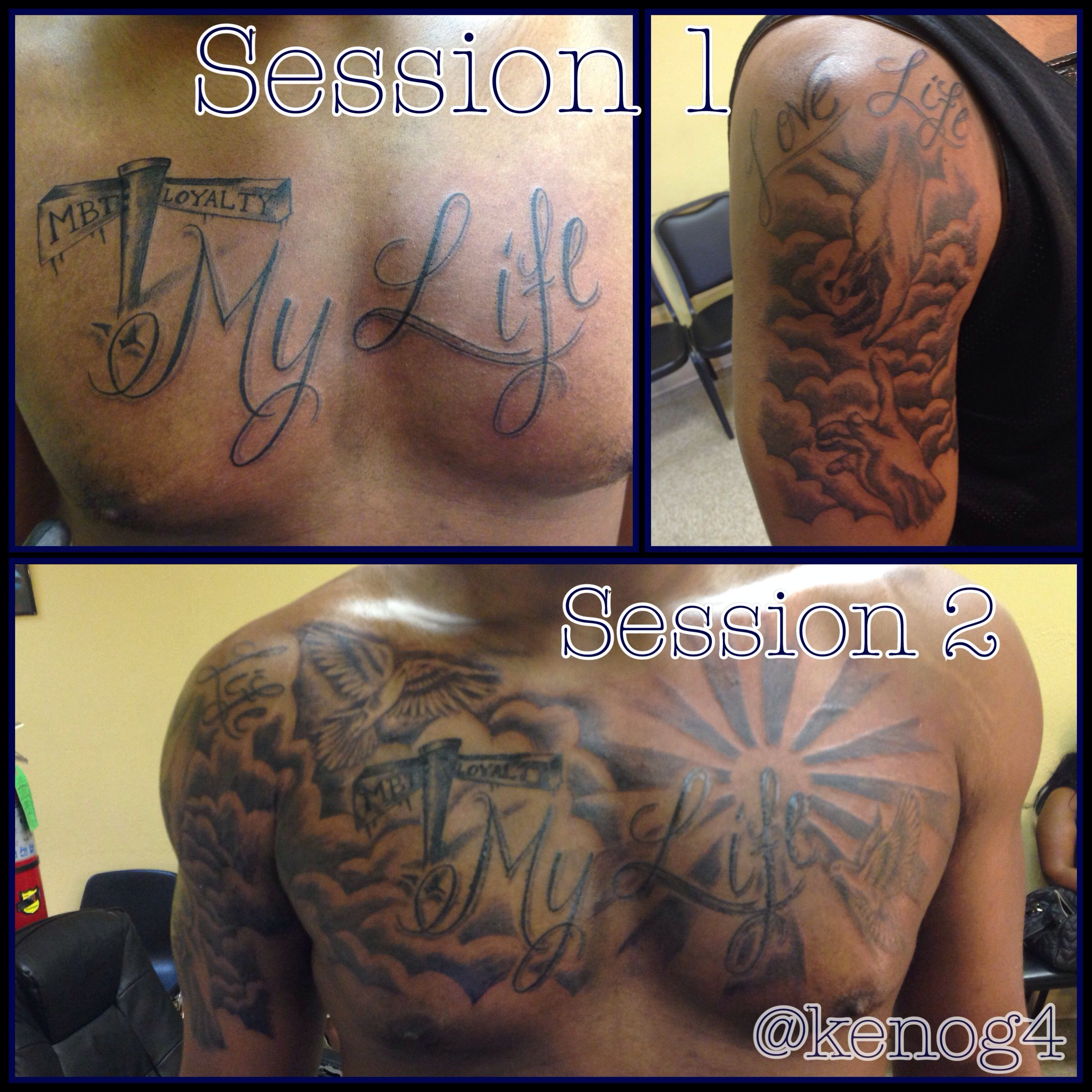 Loyalty Tattoo Birds And Clouds