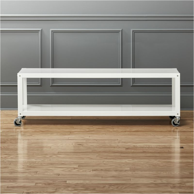 Go Cart White Rolling Tv Stand Coffee Table Backup Ideas