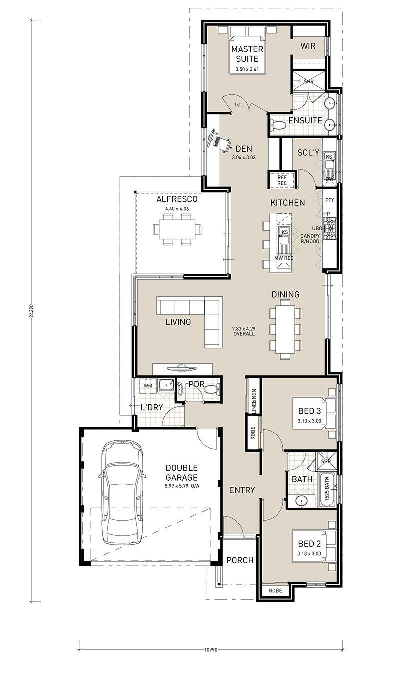 Another Single Storey House Plans House Plans Australia Narrow Lot House Plans