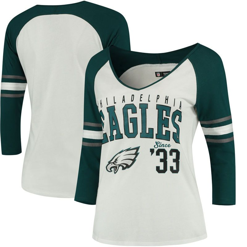 ca60355d Philadelphia Eagles 5th & Ocean by New Era Women's Blind Side 3/4 ...