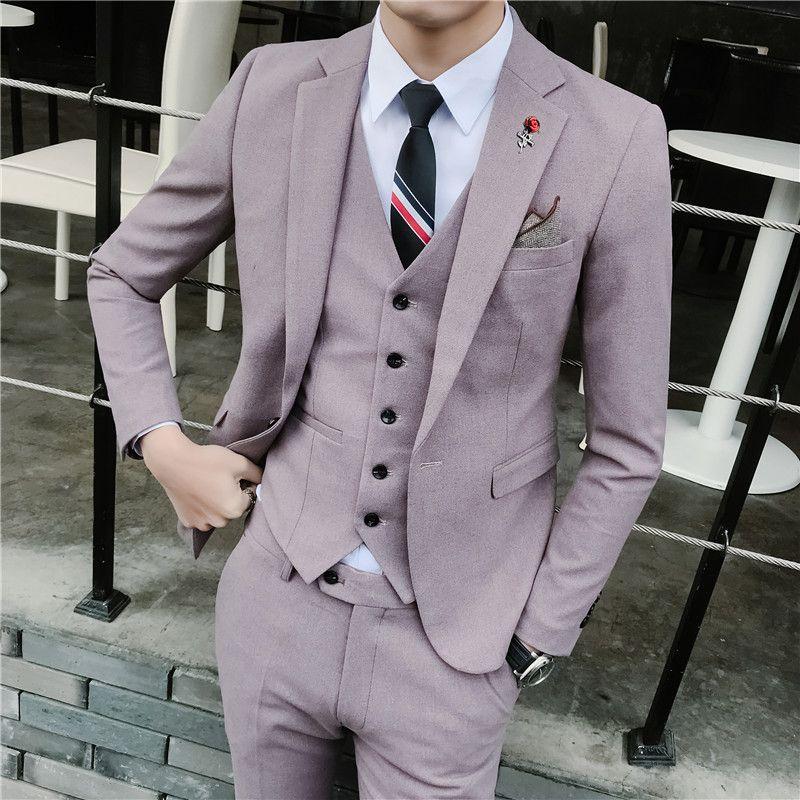 Photo of Мужской костюм костюм корейская версия тонкий костюм из трех…