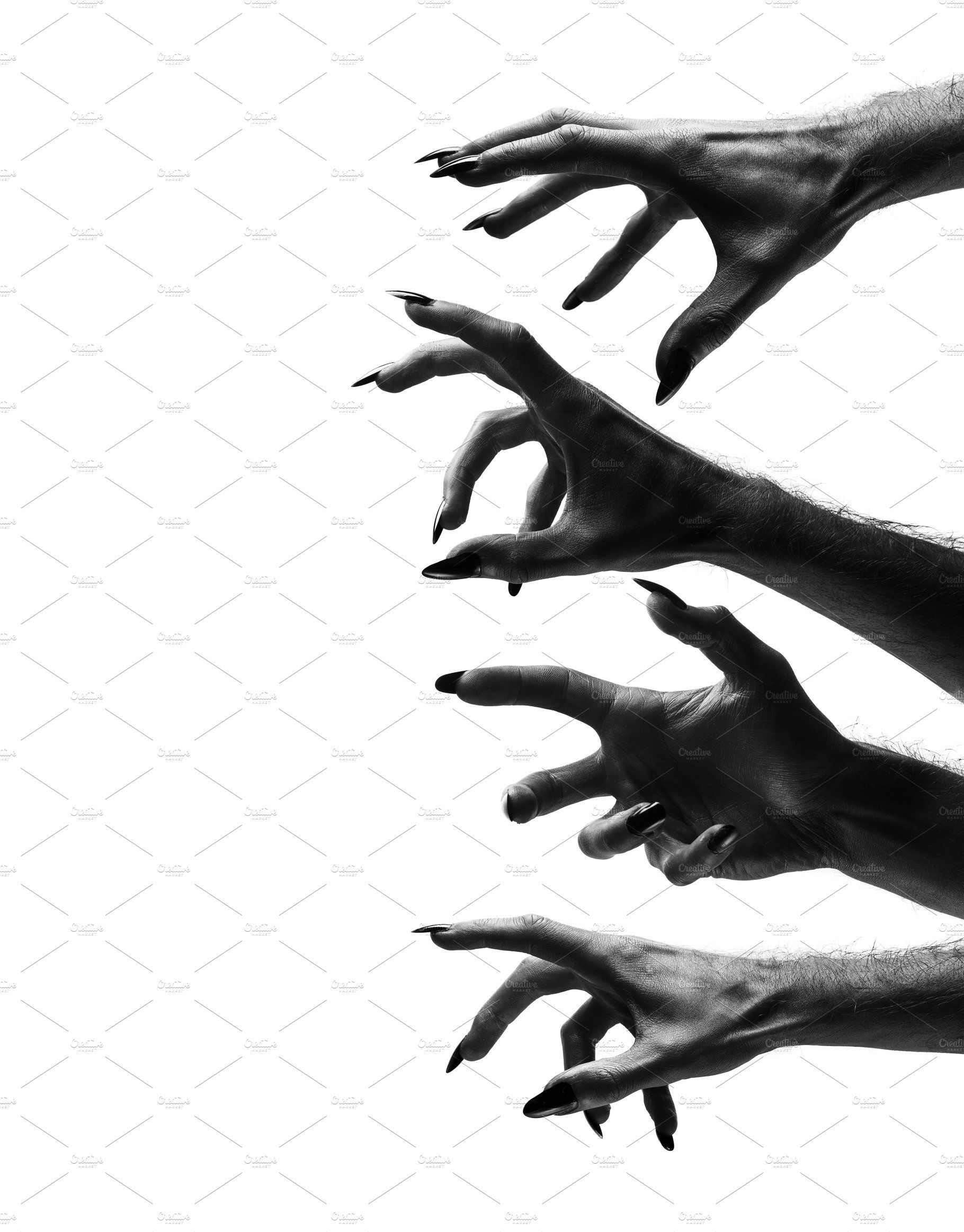 Black Creepy Halloween Monster Hand Creepy Hand Monster Hands Hand Reference