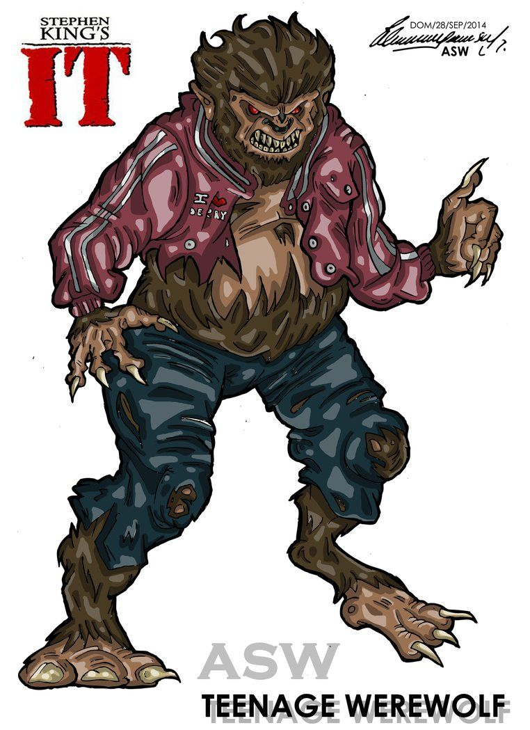 pennywise derry highschool werewolf stephen kings by