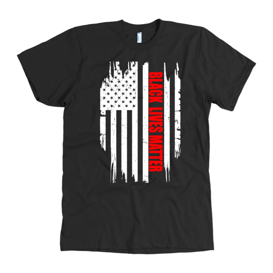 U.S. Flag BLM Tee Equalitee Designs in 2020 Mens
