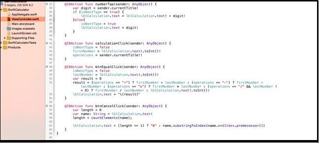 Tutorial for making swift calculator in #iOS #application