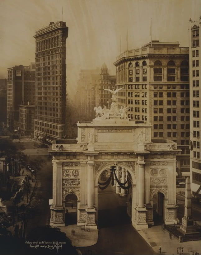 The Victory Arch and Flatiron Building 1919  UNDERHILL-16