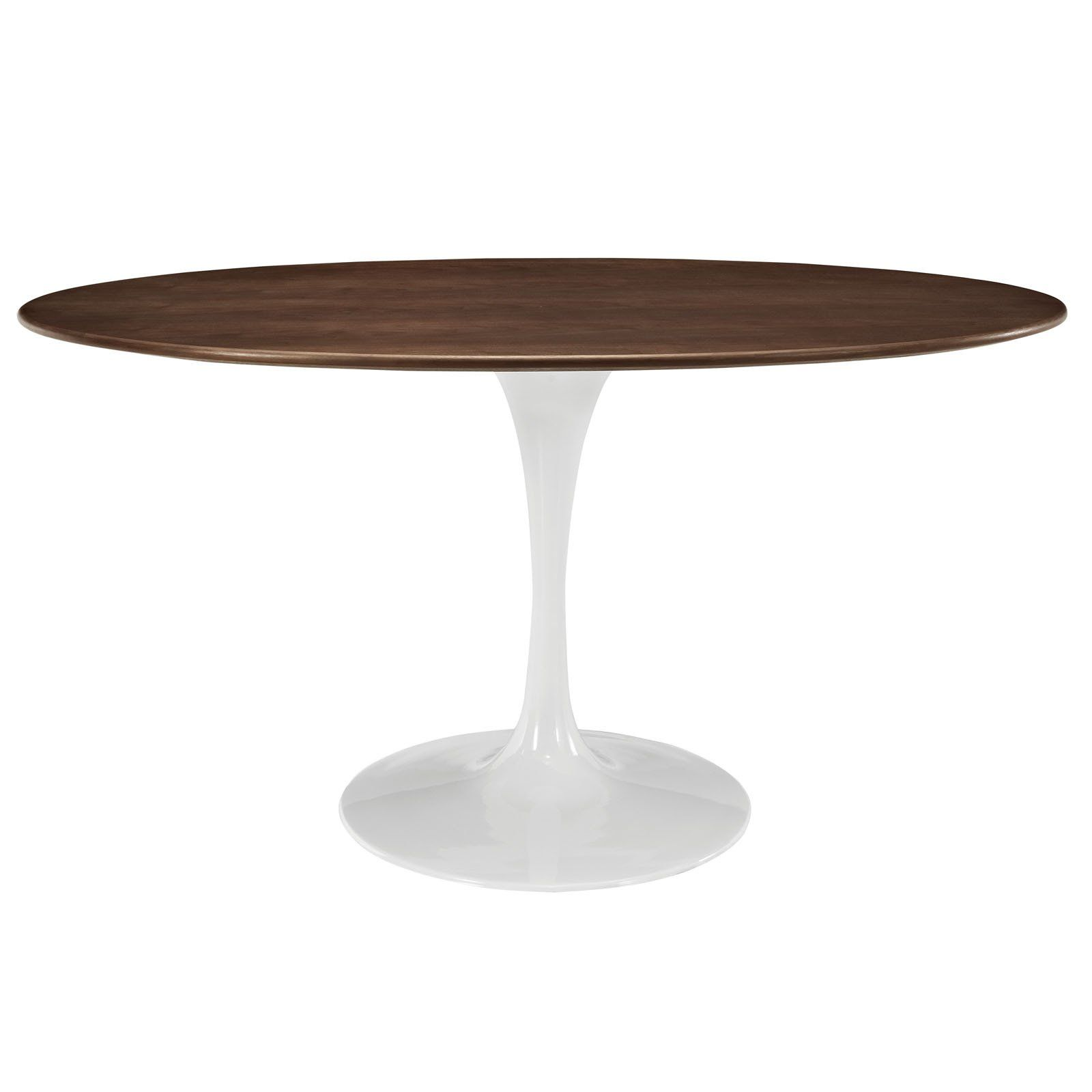 Tulip Style 60 Oval Wood Dining Table Dining Table Walnut Dining Table Modern Dining Table