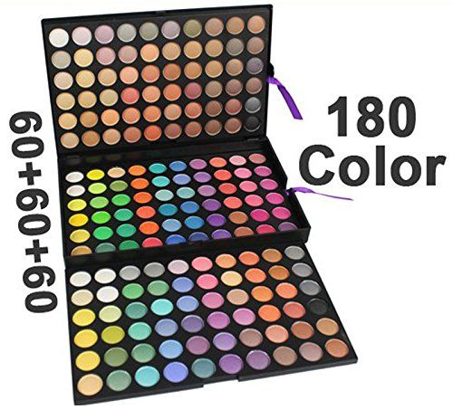 AmaranTeen  180 Color Eyeshadow Eye Shadows Professional Makeup Makes Up Kit Palette Set Cosmetics -- Find out more about the great product at the image link.