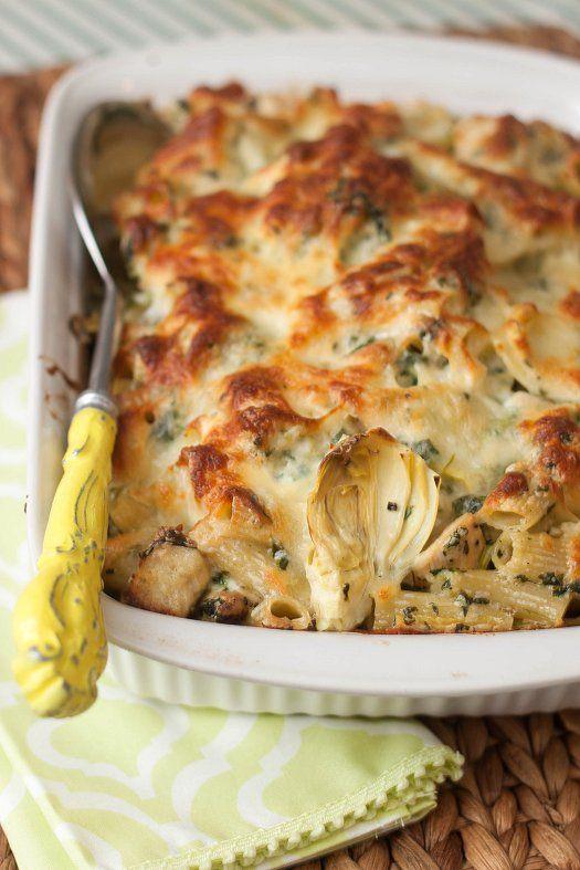 Chicken Spinach And Artichoke Pasta Bake Recipe Artichoke Pasta