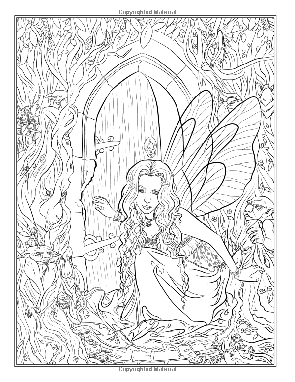 Robot Check Fairy Coloring Pages, Fairy Coloring, Coloring Books