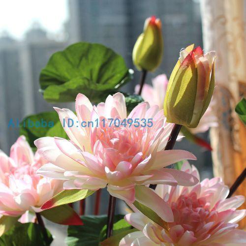 1pcs bouquet artificial lotus silk flower home party decoration f142 1pcs bouquet artificial lotus silk flower home party decoration f142 in decorative flowers wreaths mightylinksfo