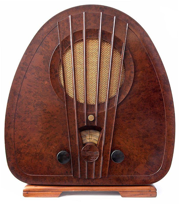 Art Deco Philips Bakelite Radio 1933 Made In Holland