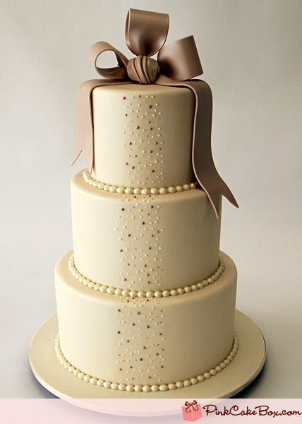Wedding Cake by Pink Cake Box