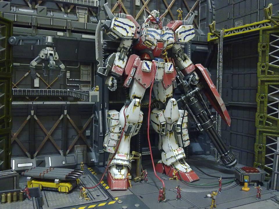 "Gunpla Diorama: ""The Last Stand"" [1/100 Fighter Gundam ..."