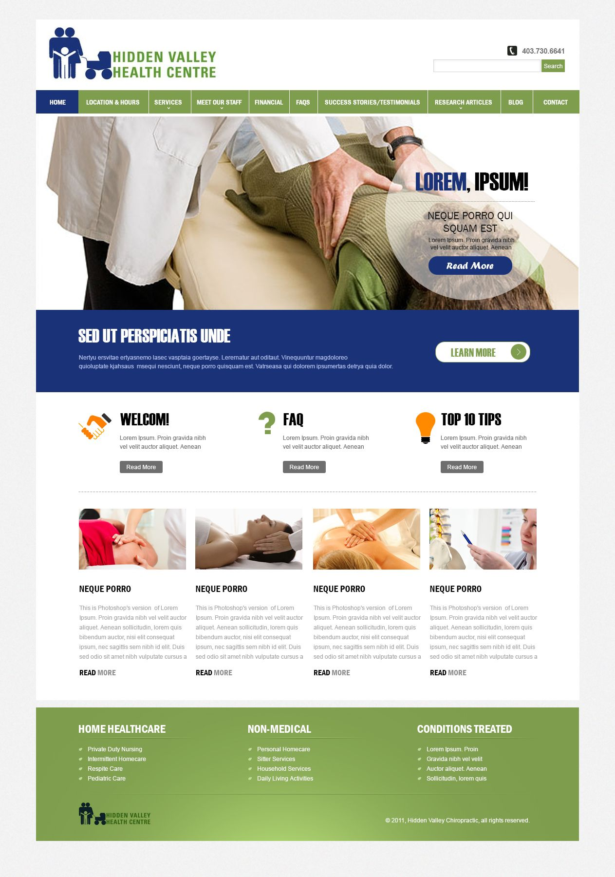 Web design for a health care provider #togonondesign #creativesmartandeffective